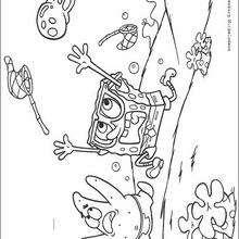 Medusa correndo atrás do Bob Esponja