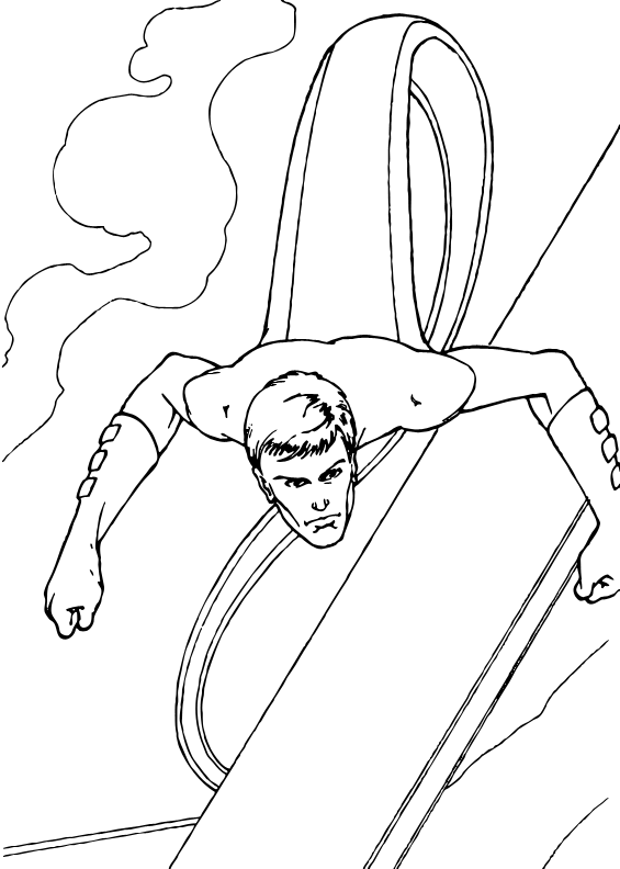 Mr Fantastic Stretch coloring page