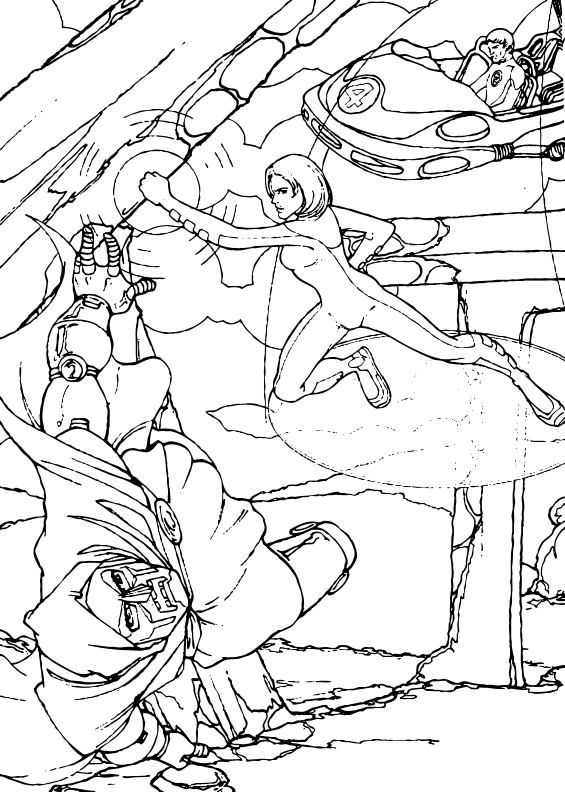 Invisible woman and doctor doom coloring pages for Fantastic four coloring pages