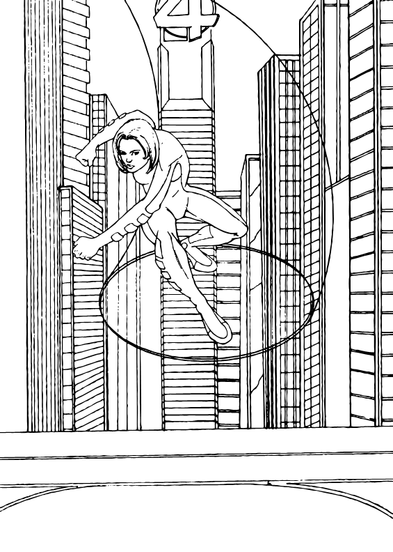 Invisible Woman coloring page