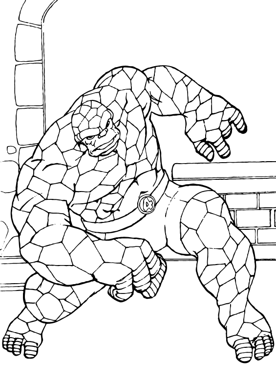 coloring pages fantastic four | The mighty thing coloring pages - Hellokids.com