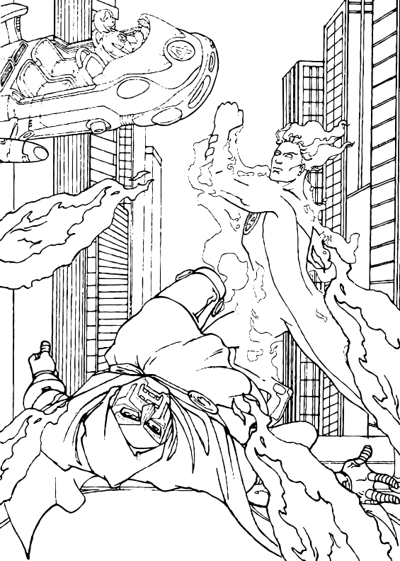 the human torch coloring pages - photo#25