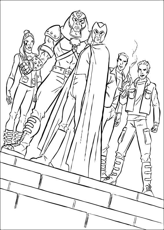 Magneto Coloring Pages