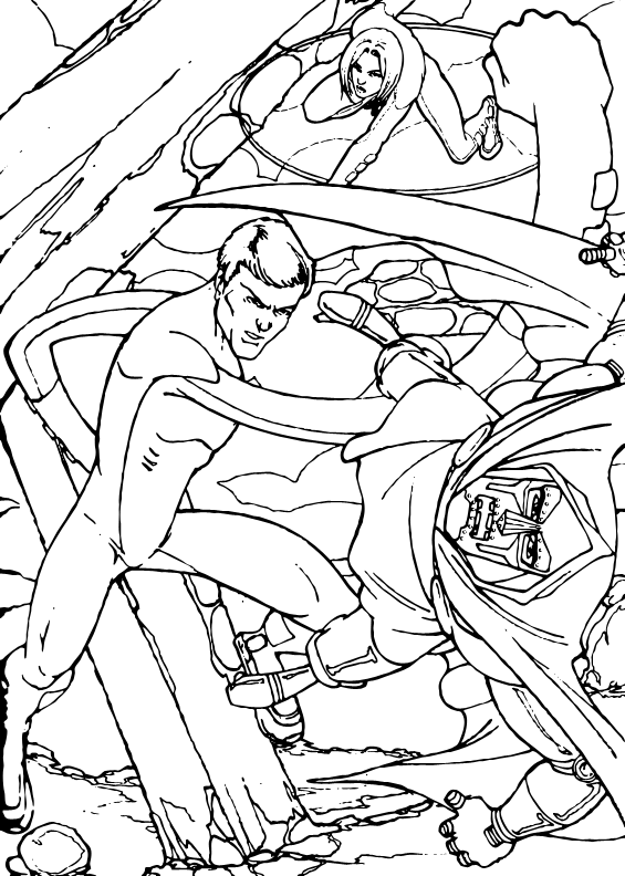 Big punch coloring page