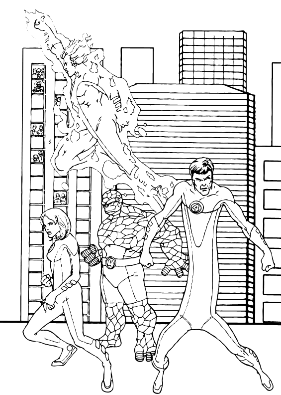 Fantastic City Visit Coloring Pages