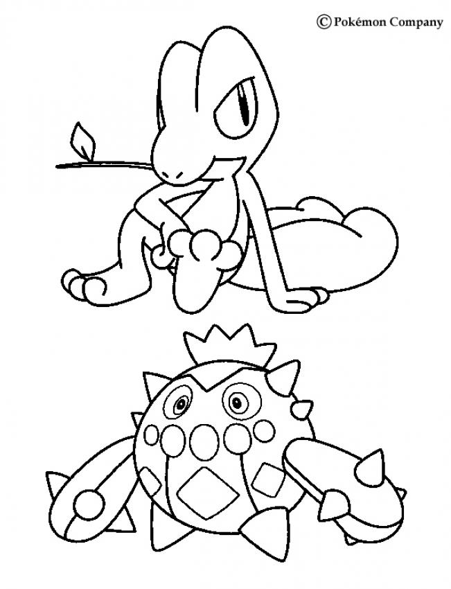 Froakie Pokemon Coloring Pages Sketch Coloring Page