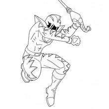 Jumping Ninja coloring page