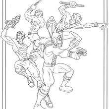 Power Rangers In Action Coloring Pages Hellokids Com