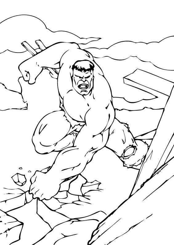 Hulk Destruction coloring page