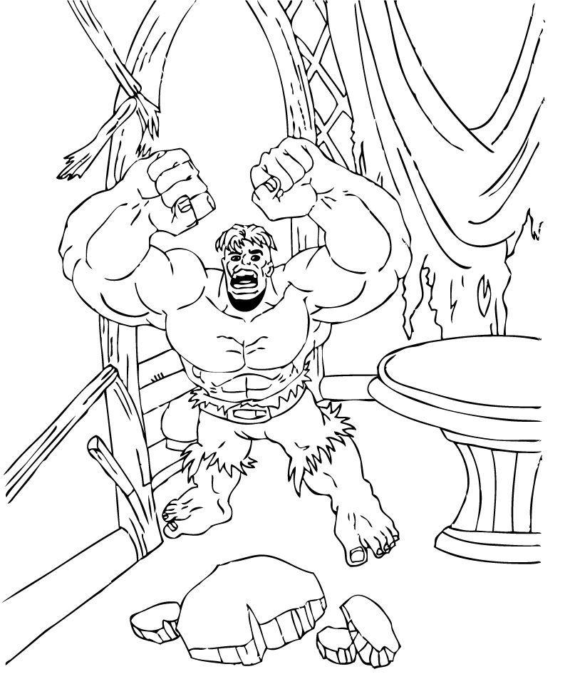Desperate Hulk coloring page