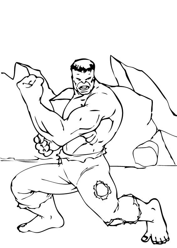 Hulk 's Strong Arms coloring page