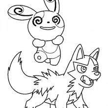 Grass pokemon coloring pages treecko and seedot for Poochyena coloring pages