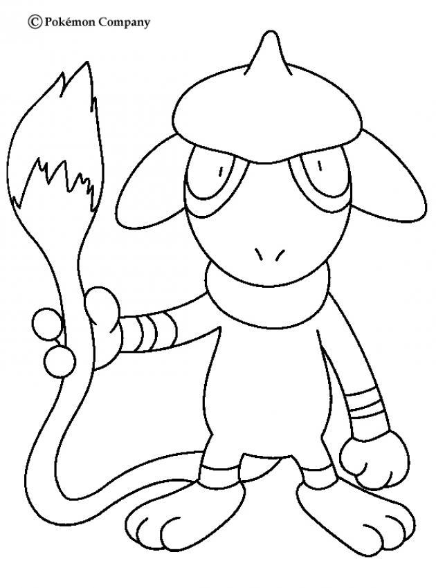 Pokemon N 17 Color Online Print