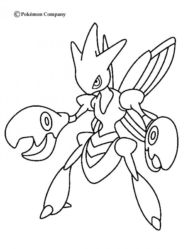 pokemon coloring pages scyther - scizor coloring pages
