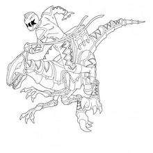 Power Rangers And Dino Robot Coloring Pages Hellokids Com