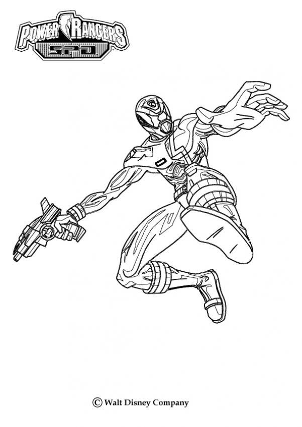 Ninja Power Rangers Coloring Pages Hellokids Com