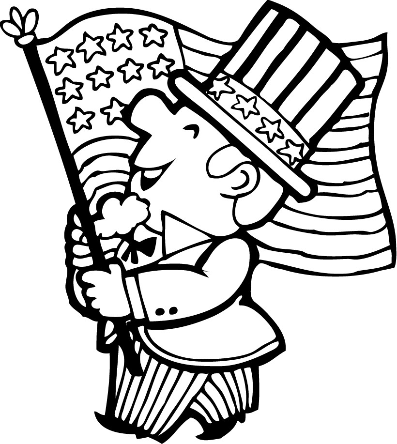 4th of JULY coloring pages 4th