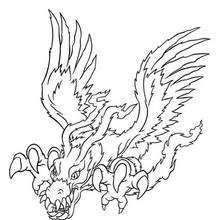 Digimon Birdramon coloring page - Coloring page - MANGA coloring pages - DIGIMON coloring pages