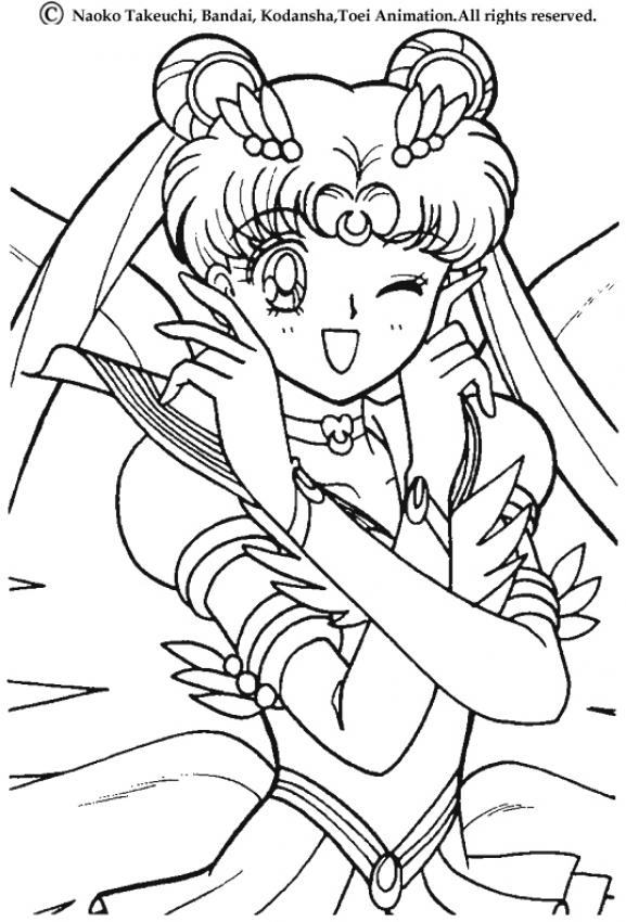 Sailor moon 39 s wink coloring pages - Coloriage sailor moon ...