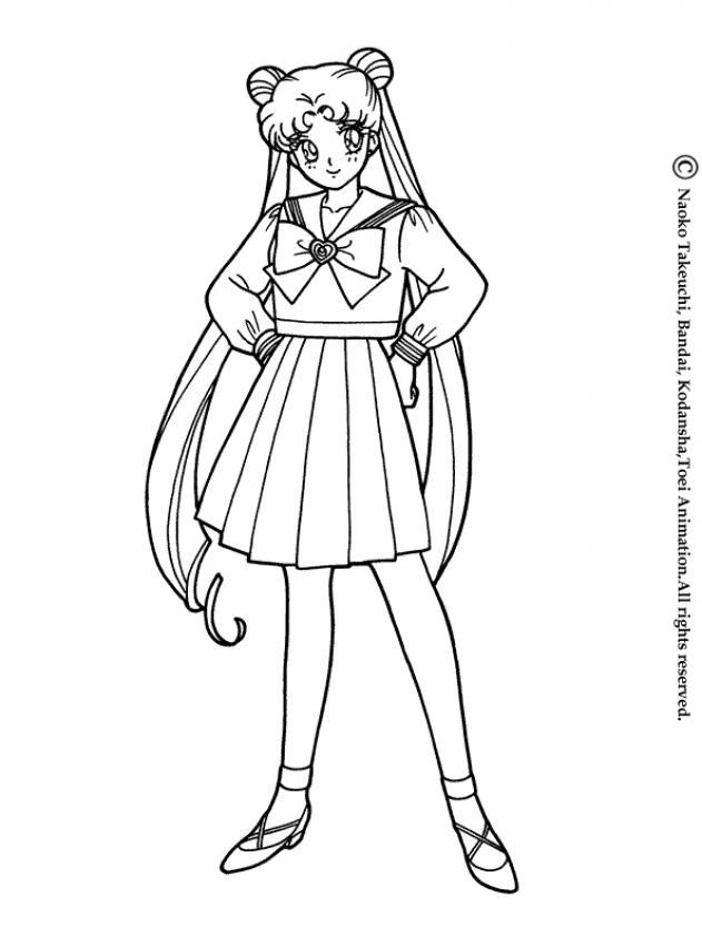 Sailor moon in her school uniform