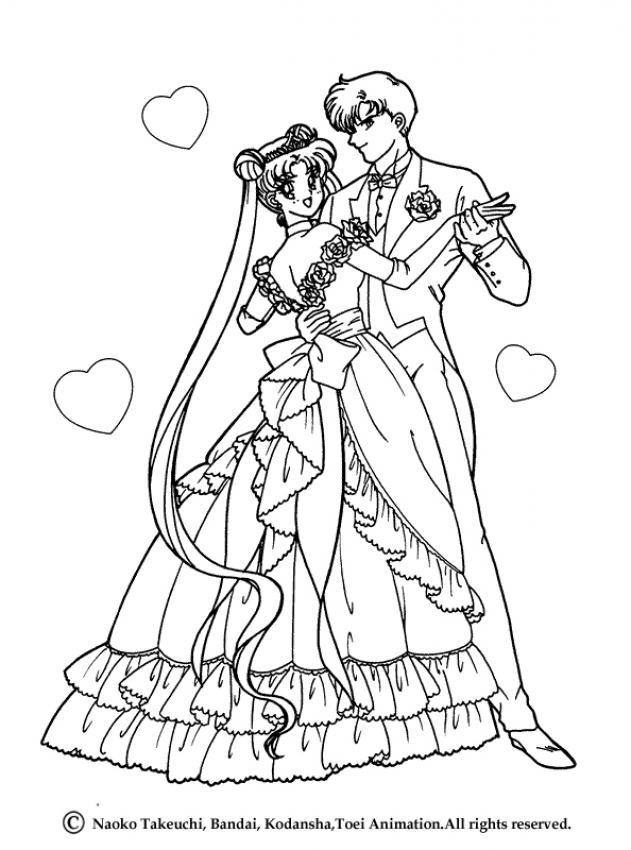 sailor moon with her boyfriend