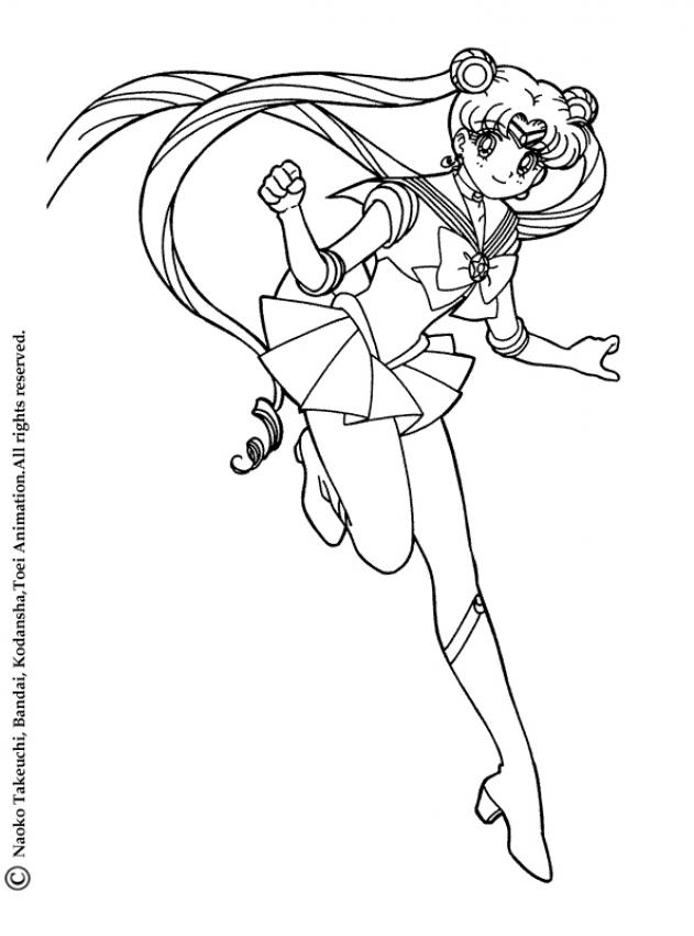 Sailor moon skipping coloring pages for Sailor mars coloring pages