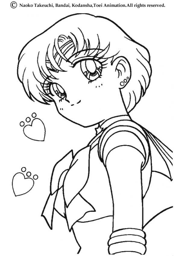 Sailor Uranus Portrait Coloring Pages