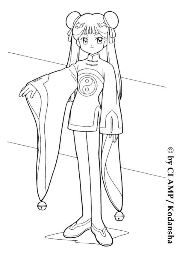 mailing li coloring page manga coloring pages sakura coloring pages