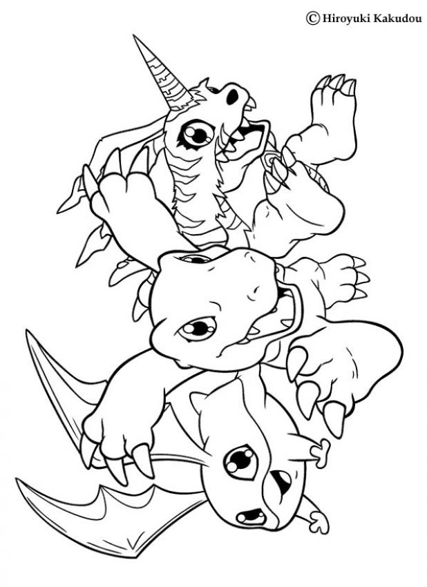 new digimon coloring pages - photo#22