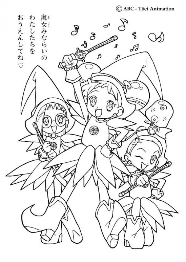 ojamajo doremi coloring pages - photo#14