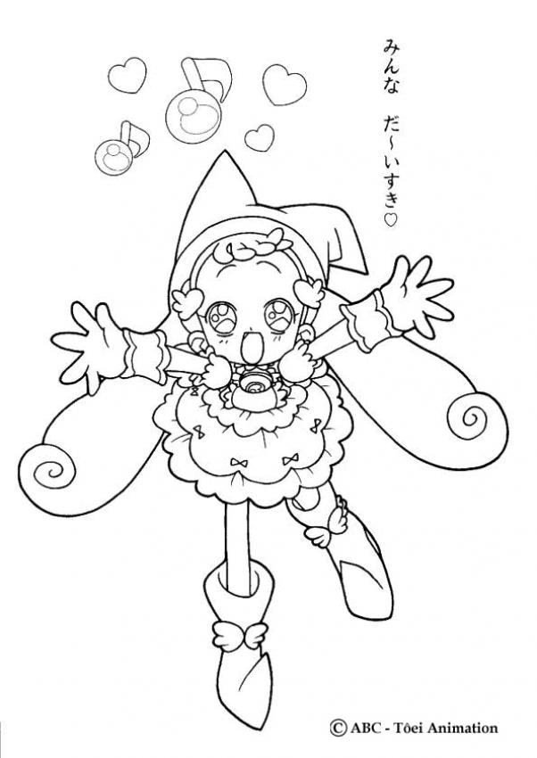 ojamajo doremi coloring pages - photo#22
