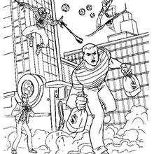 Sandman Stealing Money Coloring Pages Hellokids Com