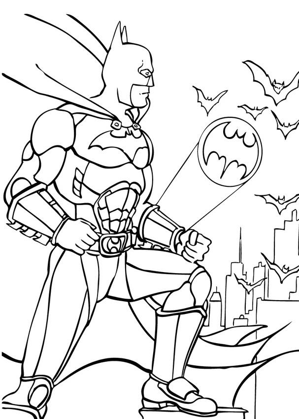 Batman With Bats Coloring Pages