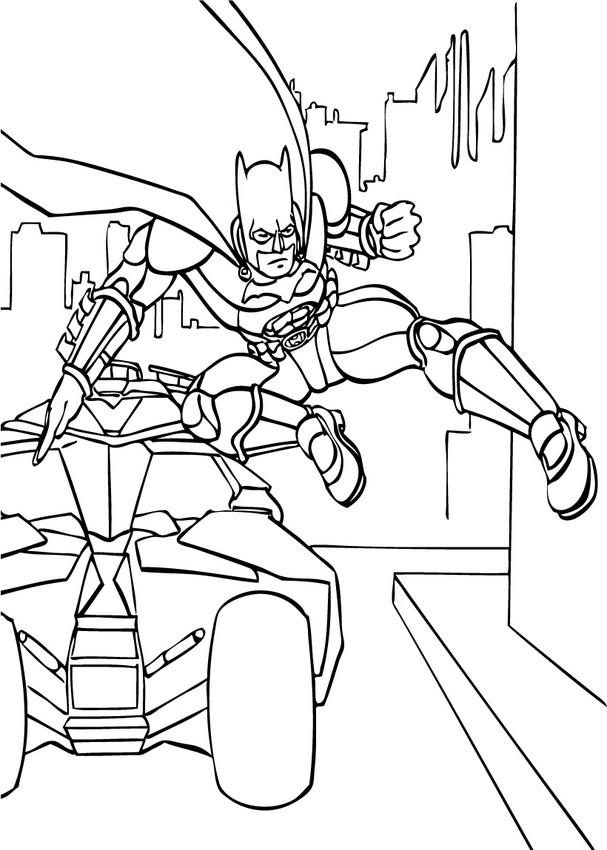 Batman and batmobil coloring pages - Hellokids.com
