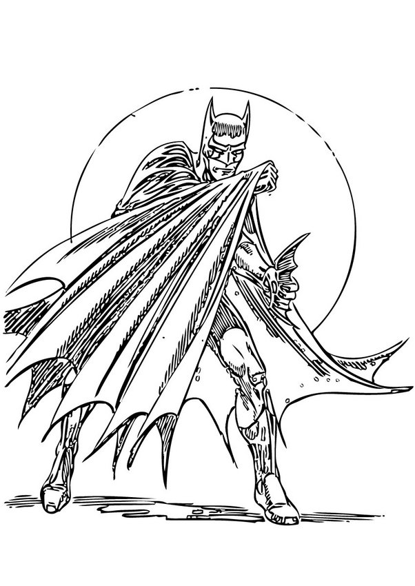 Batman In Action Coloring Pages Hellokids Com