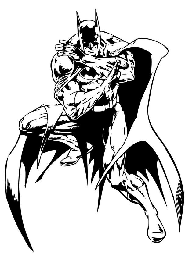 Batman S Action Coloring Pages Hellokids Com
