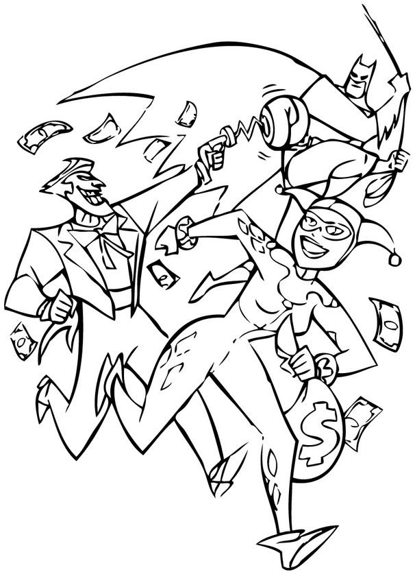Atractivo Harley Quinn Y Joker Para Colorear Colección de Imágenes ...