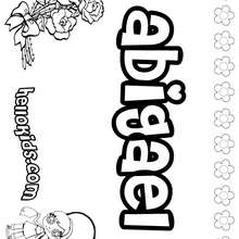 Abigael - Coloring page - NAME coloring pages - GIRLS NAME coloring pages - A names for girls coloring sheets