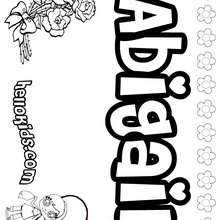 Abigail - Coloring page - NAME coloring pages - GIRLS NAME coloring pages - A names for girls coloring sheets