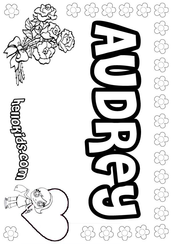 Audrey coloring pages - Hellokids.com