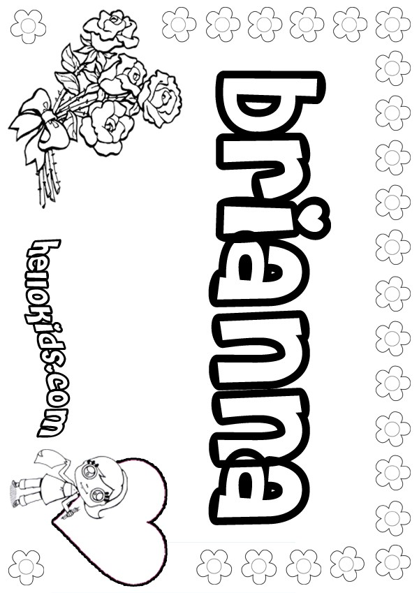 brianna name coloring pages - photo#2