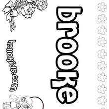 Brooke - Coloring page - NAME coloring pages - GIRLS NAME coloring pages - B names for girls coloring sheets