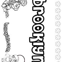 Brooklyn - Coloring page - NAME coloring pages - GIRLS NAME coloring pages - B names for girls coloring sheets