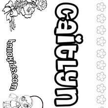 Caitlyn - Coloring page - NAME coloring pages - GIRLS NAME coloring pages - C names for girls coloring sheets