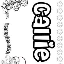Callie - Coloring page - NAME coloring pages - GIRLS NAME coloring pages - C names for girls coloring sheets