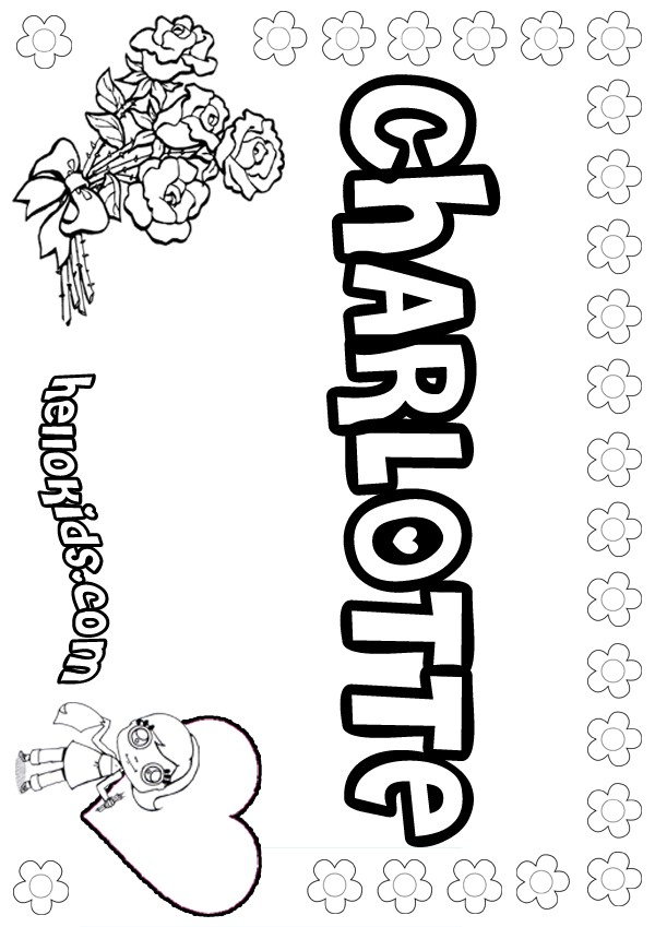 Charlotte Coloring Pages Hellokids Com Name Colouring Pages