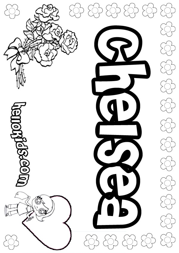 Chelsea coloring pages Coloring book names