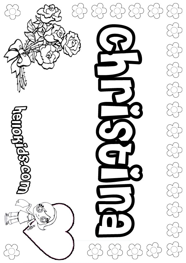 Christina Coloring Pages Hellokids Com Name Colouring Pages