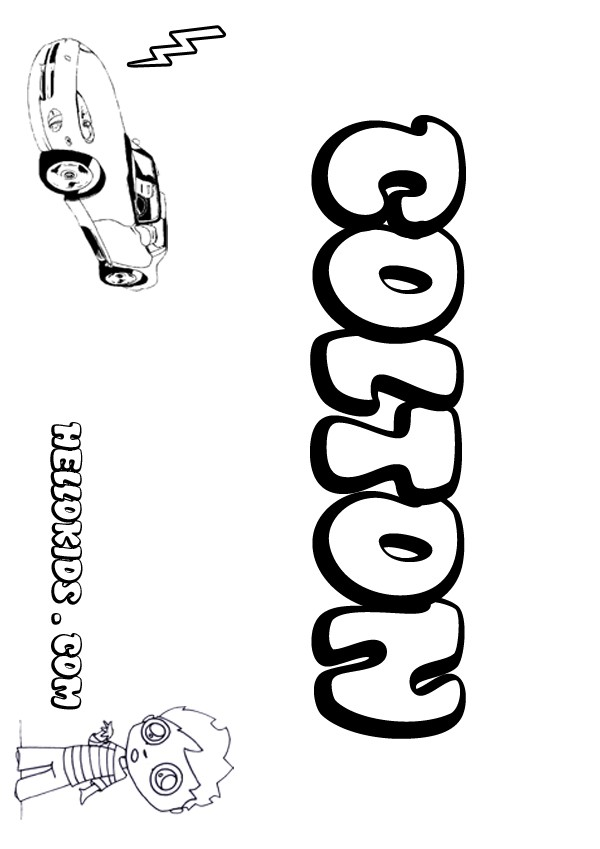 kids name coloring pages Colton