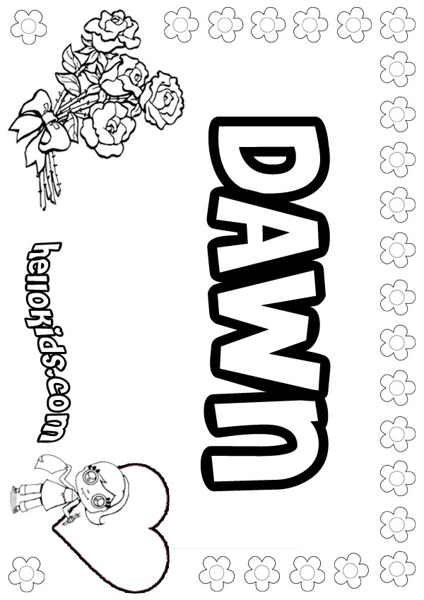 dawn coloring pages hellokidscom